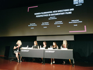 "Roser Corella took part in the roundtable ""Women filmmakers: new directions and perspectives in"
