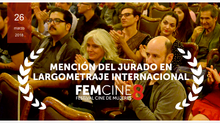 "The jury FEMCINE8 Chile has decided to award the ""Jury Mention"" to GRAB AND RUN by Roser C"