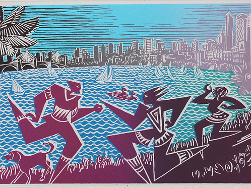 boston skyline card # 19