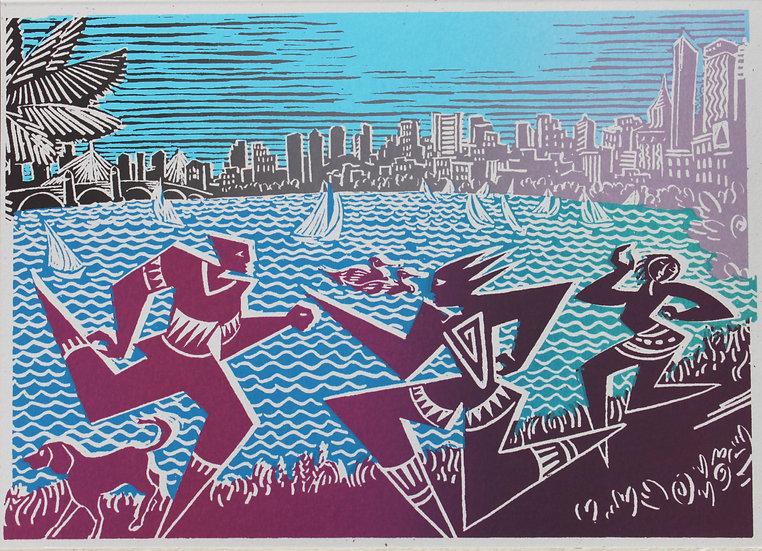 boston skyline card # 19