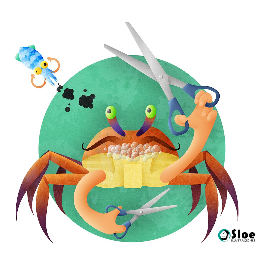 Scissors crab