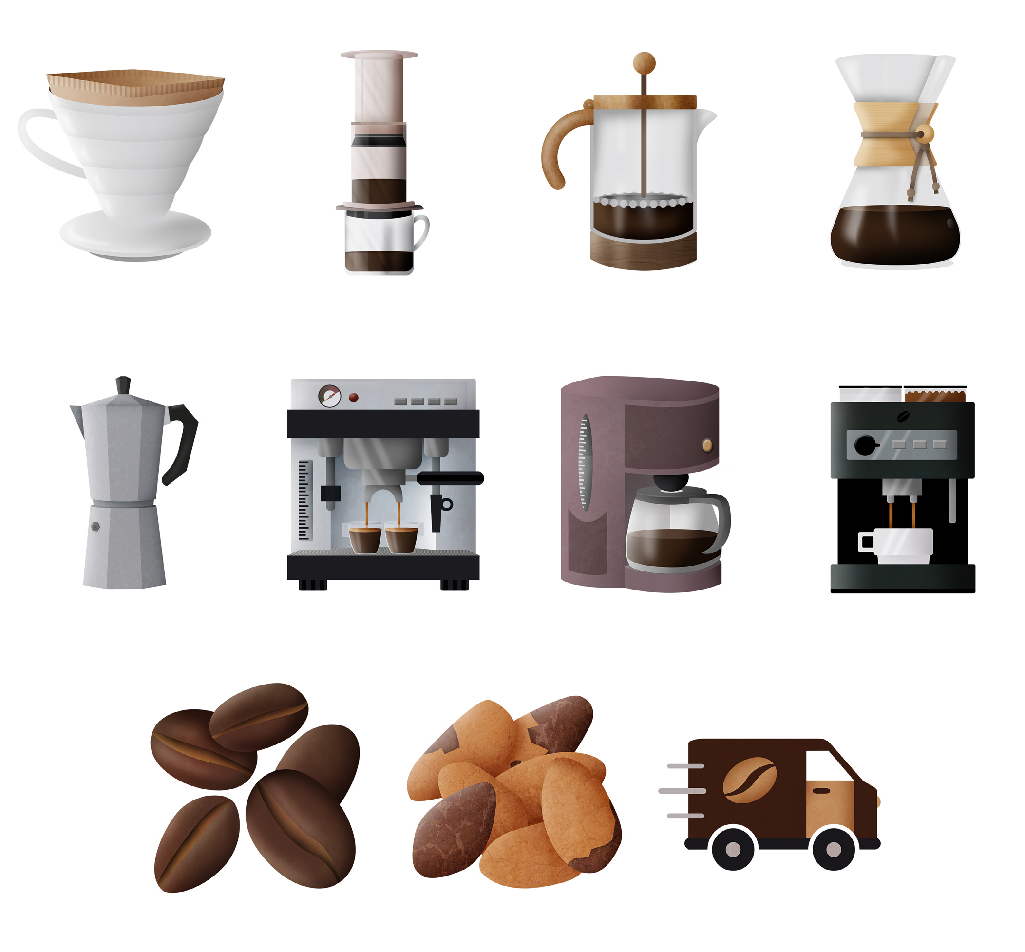 Websibe coffee icons