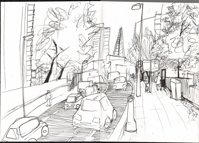 Reportage Drawing 4