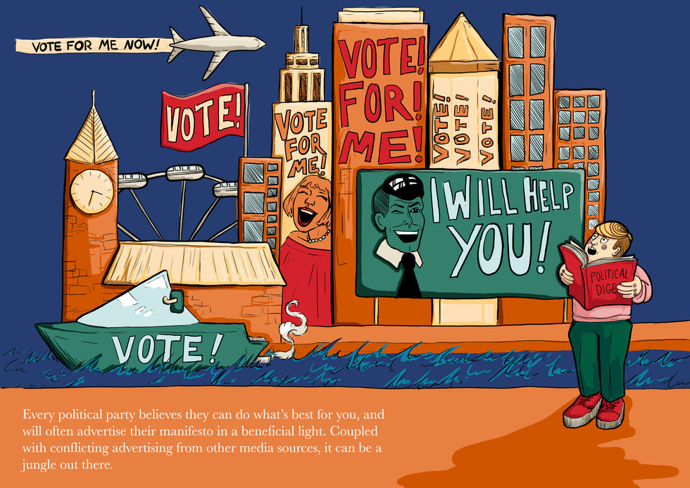 Illustrations for UAL magazine Political Digest