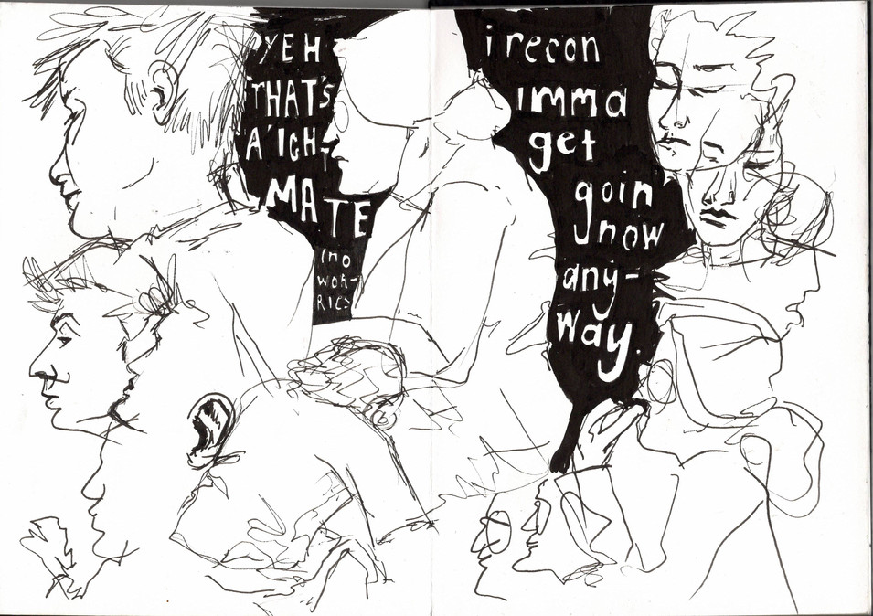 Reportage Drawing 5