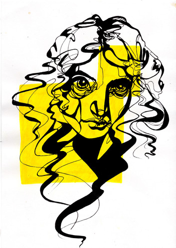 Free drawing portrait