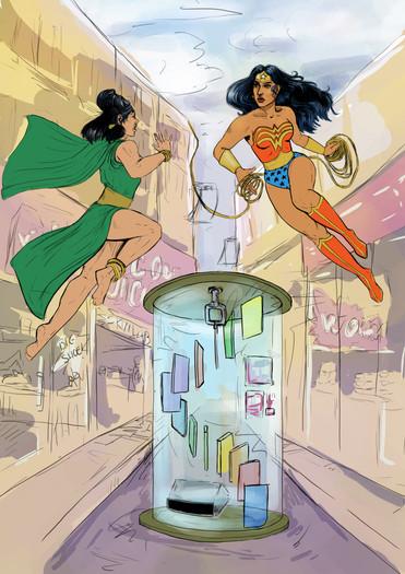 Wonder Woman Vending Machine