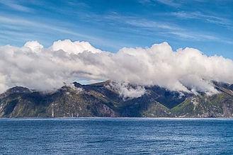 Sailing up to Gough Island