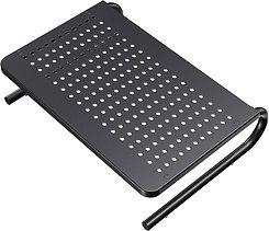 Black laptop riser