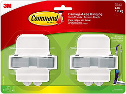 Package of two Command broom hooks