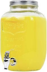 Large glass mason jar with dispenser