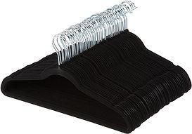 Fifty black velvet hangers