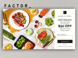 Factor Web Showcase Design