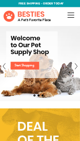 Pets & Animals website templates – Pet Supply Store