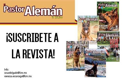 Suscripción Anual Revista El Pastor Alemán en México