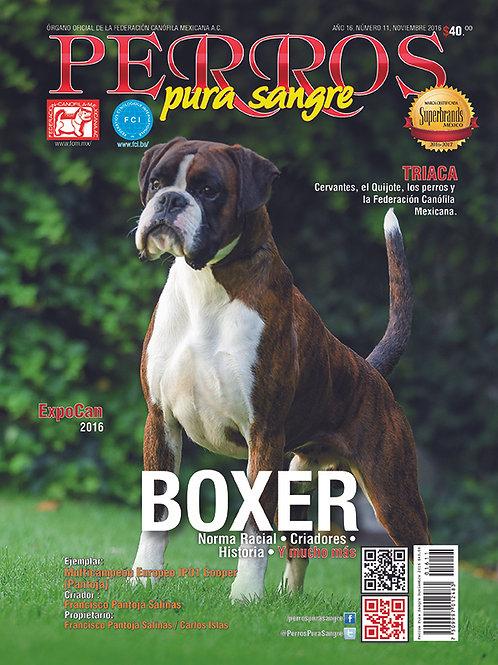 Revista Perros Pura Sangre Bóxer