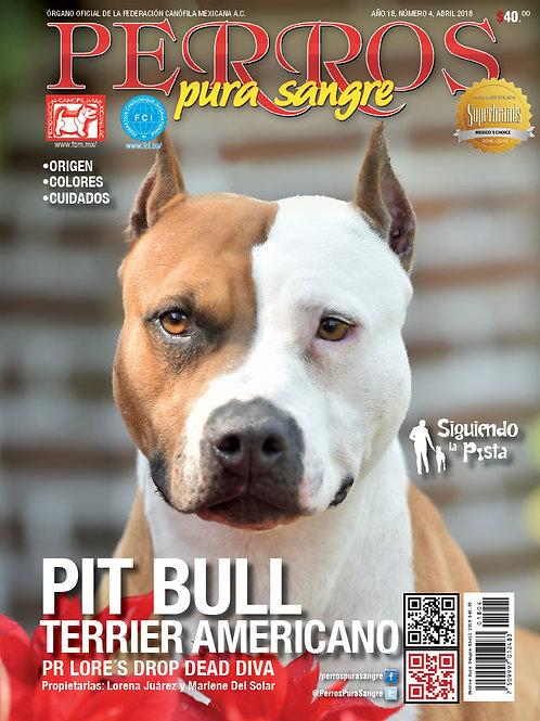 Revista Perros Pura Sangre Pitbull Terrier Americano