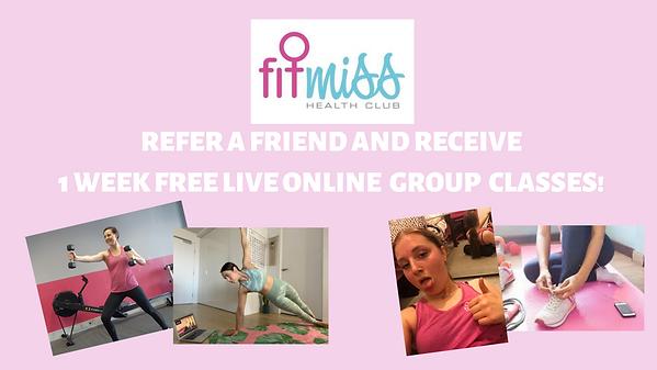Refer a friend FREE Trial Live Zoom Grou