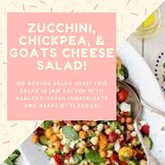 Zucchini, Chickpea, Tomato and Goats Che
