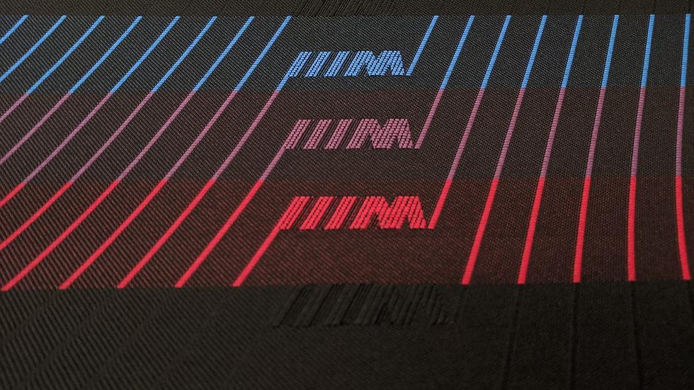 "Black M Stripe ""M Jahre"" Fabric"