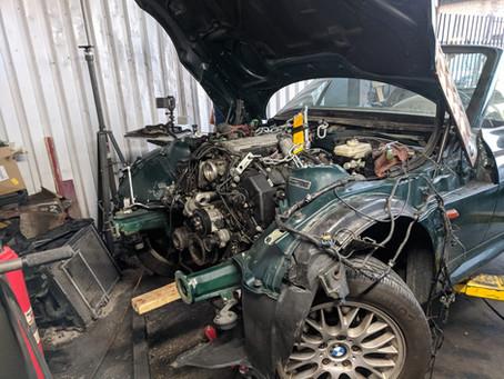 N62 Z3 Part 2: Transmission & Engine Fitment
