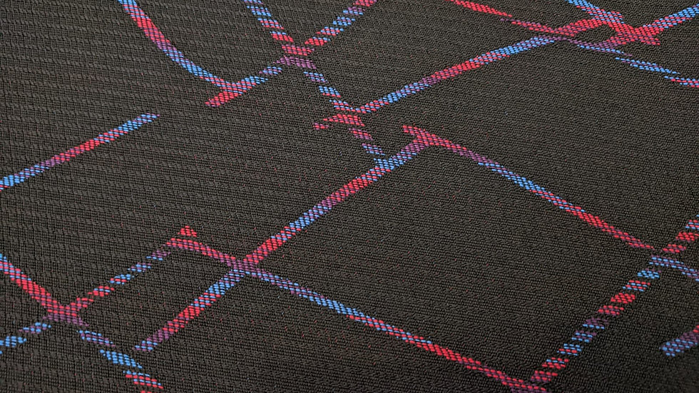 Black M Cross Fabric
