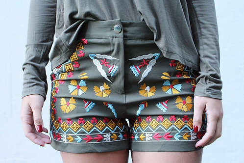 Short Bordado Militar