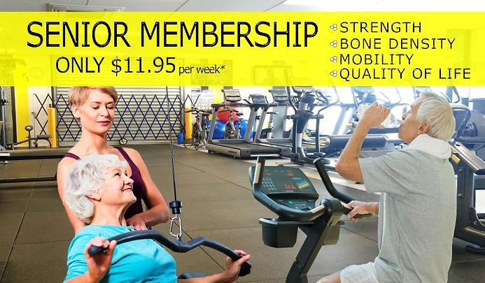 Seniors 11.95 per week 2021 Poster for W