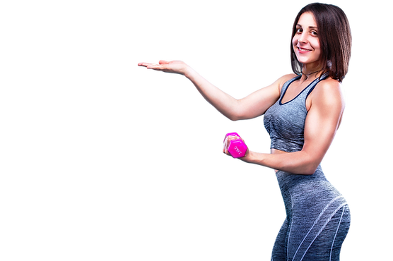Lady Gym Pointing To Sign SMALL.png