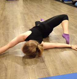 Annie - stretching after Barre