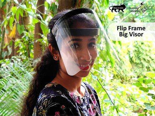 Srika Face Shield with Flip Frame with Big Visor FDA and RoHS Certified. Best Price COVID-19 Product in India