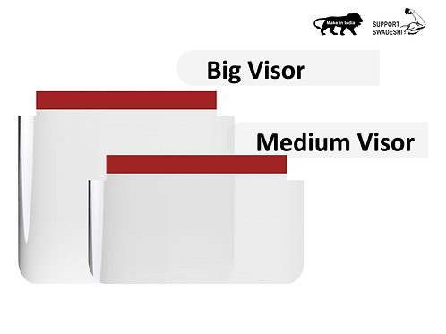 FDA and RoHs Certified Visor for Flip and Fixed Frame. Best Price Anti COVID19 Product in India
