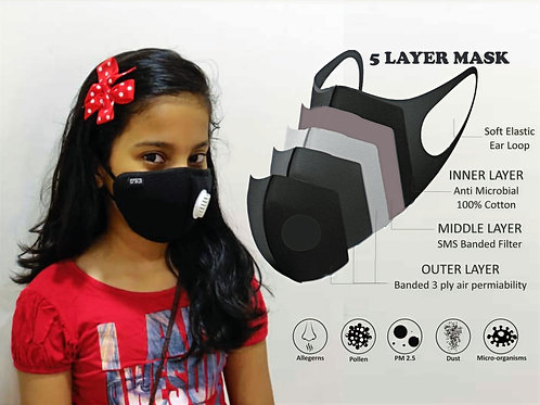 5 Layered Antimicrobial Face Mask Online in India for Adults and Kids. Srika , Bangalore