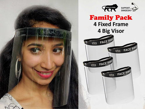 Face Shield - Fixed Frame + FDA and RoHs Certified Visor Combo Pack, Bangalore