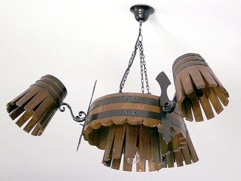 Lámpara de techo con 3 apliques