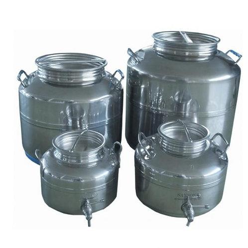 Depósito- bidon inox para trasporte de vino y aceite