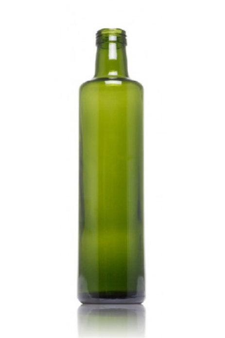 Botella de vidrio para aceite dórica 25 cl verde boca rosca