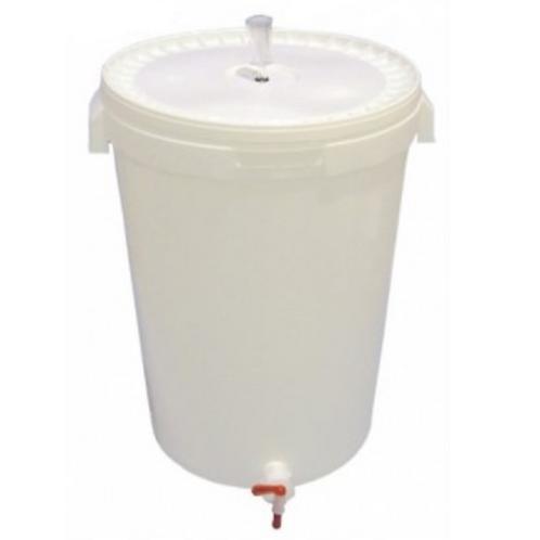 cerveza cubo fermentador + tapa + grifo + airlock 60L