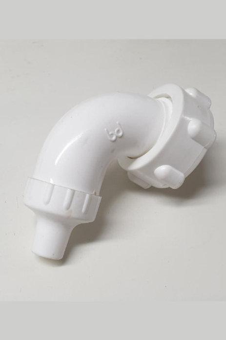 Chorro plástico llave válvula cromada