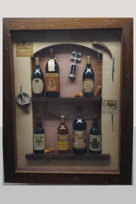 Cuadro Relieve botella 42x33