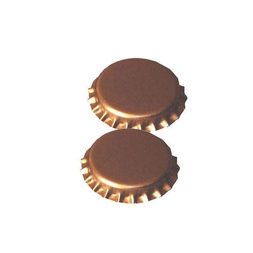 Chapas 26mm doradas (100 Unid.)