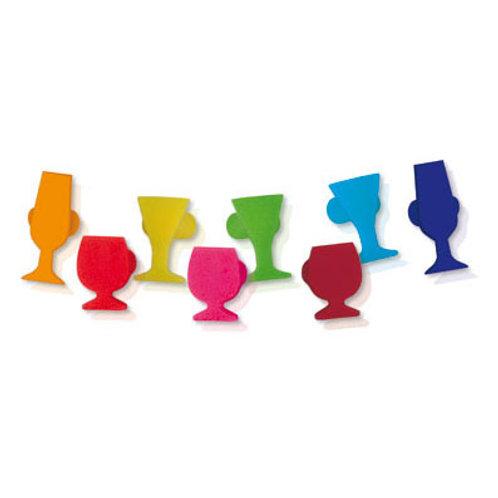 Marcadores de copas 8 pcs con clip