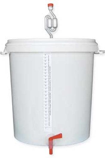 Cubo fermentador 30L + tapa + grifo + airlock