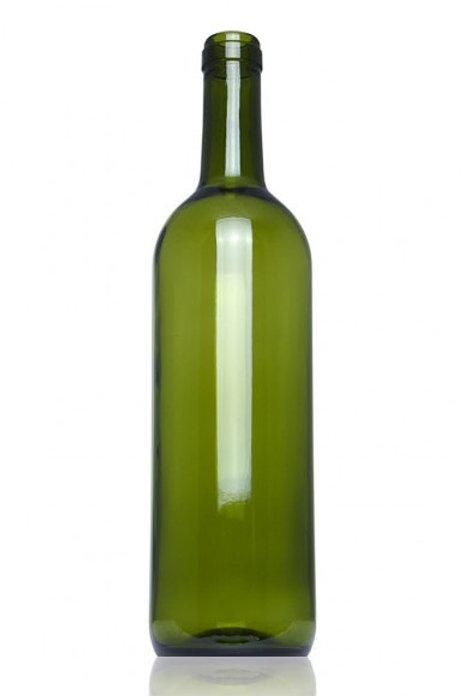 Botella bordalesa verde 75cl