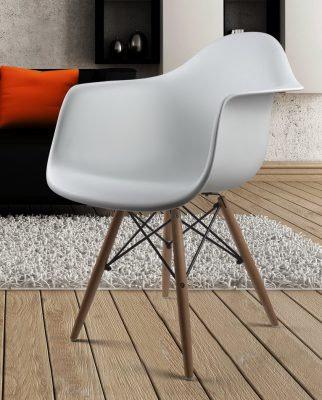 Стул -кресло белое.Акрил.
