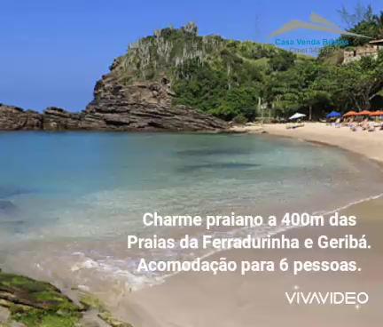 Charme Praiano a 400m das Praias da Ferradurinha e Geribá