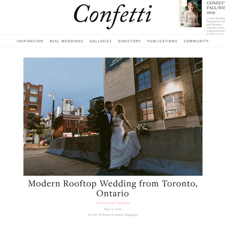 Modern Rooftop Wedding from Toronto, Ontario | Danica Oliva Photography