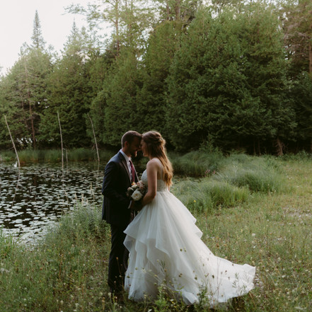 Ontario Lakeside Backyard Wedding | Danica Oliva Photographer