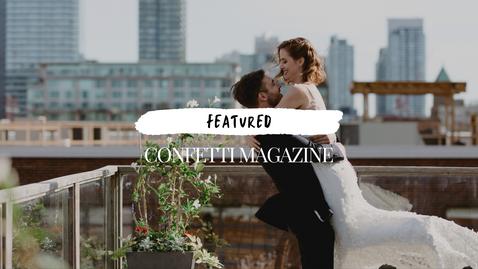 Modern Rooftop Wedding from Toronto, Ontario | Danica Oliva Photography