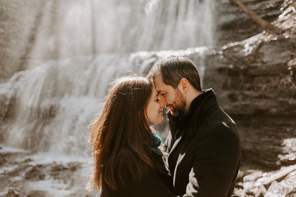 Hamilton Waterfall Engagement, Toronto Wedding Photographer, Danica Oliva Photography, Moody & Intimate Wedding Photographer, Ontario Wedding Photographer,